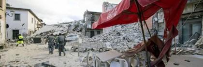 Il paese di Amatrice dopo il devastante sisma del 24 agosto 2016