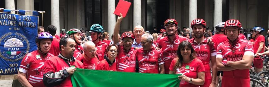 La partenza della ciclostaffetta itinerante L'agenda ritrovata per Paolo Borsellino