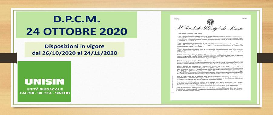 Slide dpcm 24 ottobre 2020
