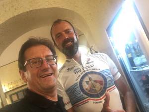 Daniele Cristicchi con promotore iniziativa